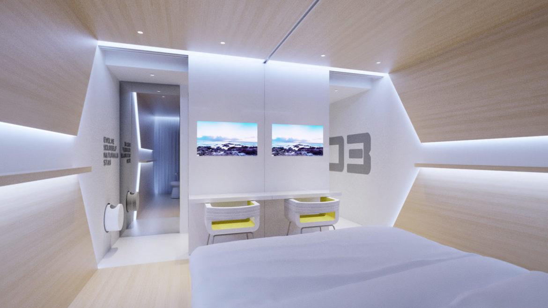 Evolve hotel usa sharing room think future design for Design hotel usa