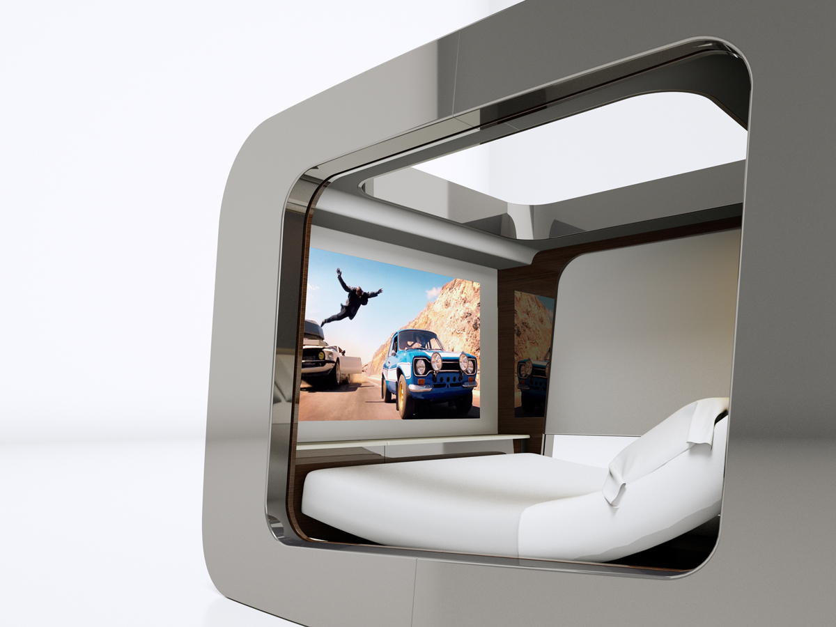 hican futuristic canopy luxury bed contemporary technological cocoon. Black Bedroom Furniture Sets. Home Design Ideas
